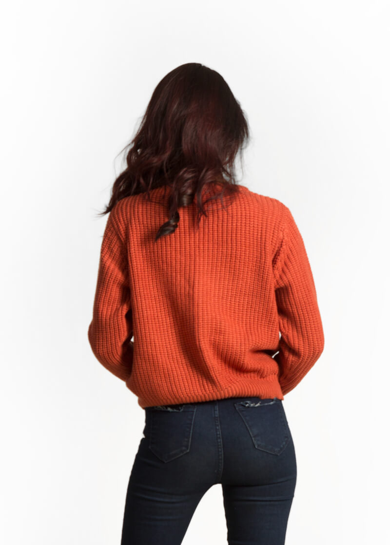 Orange Cable Knit Sweater – The Mint Studio